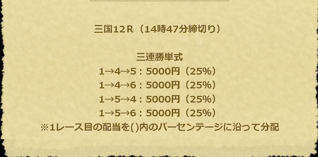 エキサイトボート-9月28日三国12R買い目
