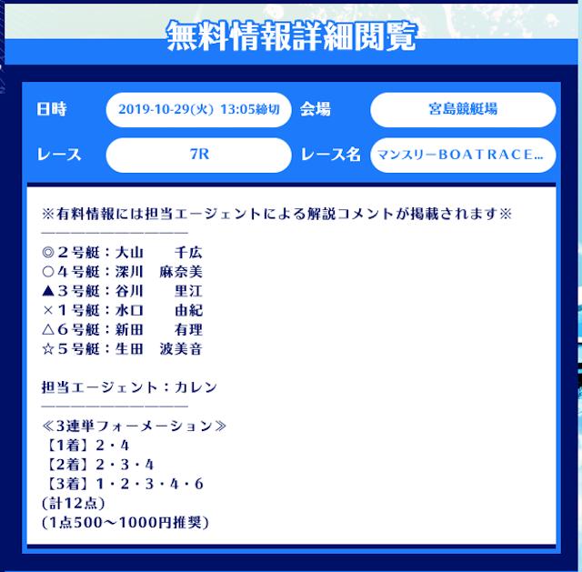 舟生11月29日の無料予想